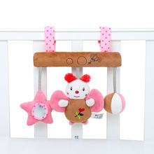 New sound music box butterfly brown car hanging baby bed hanging bell toy children BB device baby toy pendant suitable for 0M+ цены онлайн