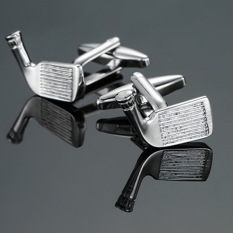 High quality <font><b>golf</b></font> <font><b>Cufflinks</b></font> fashionable men's shirts <font><b>Cufflinks</b></font> new luxury Copper Silver <font><b>Cufflinks</b></font> free of freight image