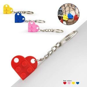 Image 2 - 50 יח\סט מפתח שרשרת בלוקים לב בריק אבני בניין בלוקים אביזרי Keychain בלוק דגם ערכות סט DIY צעצועים לילדים