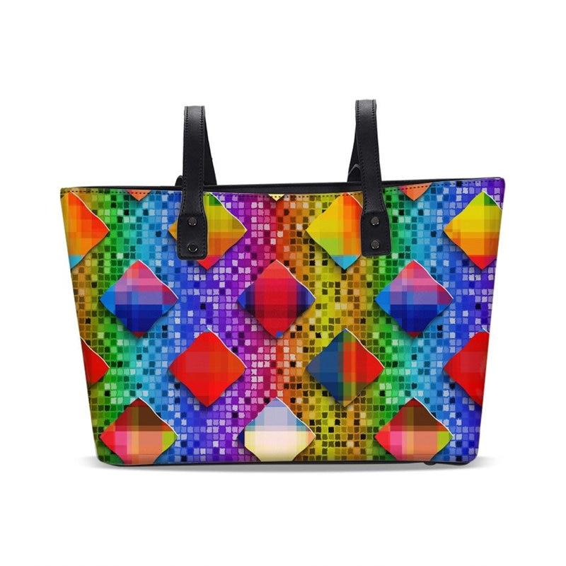 face58531619 VEEVANV фирменный дизайн Для женщин сумки моды большой Ёмкость ведро сумка  Водонепроницаемый искусственная кожа Радуга 3D печати Курьерские су.