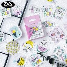 46Pcs/box Tropical Rainforest Mini Decoration Paper Sticker DIY Scrapbook Notebook Album Stationery Kawaii Girl Stickers