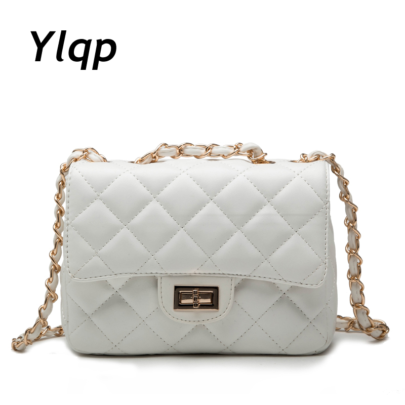 2017 New fashion Plaid Chain woman's leather handbag crossbody bag women messenger bags Evening shoulder bag Bolsa feminina hot 2016 new fashion american bright skin embossed branded handbag shoulder messenger bag luxury plaid women s crossbody bag