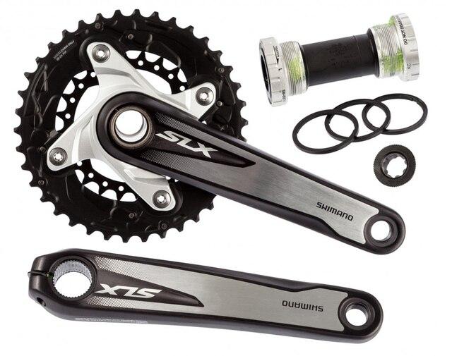 12bd4a1afb3 Shimano SLX M675 2x10 vitesse vélo vélo vtt pédalier 175mm 38-26 T avec BB52