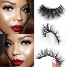 1 Pair Eyelashes 3D Mink Eyelashes Crossing Mink Lashes Hand Made Full Strip Eye Lashes New Package For Women Lady Gift  HB88