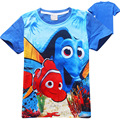 Boy Girl T-shirt Children's clothes Kids Cartoon Casual short-sleeved finding nemo dory Children brand Monya