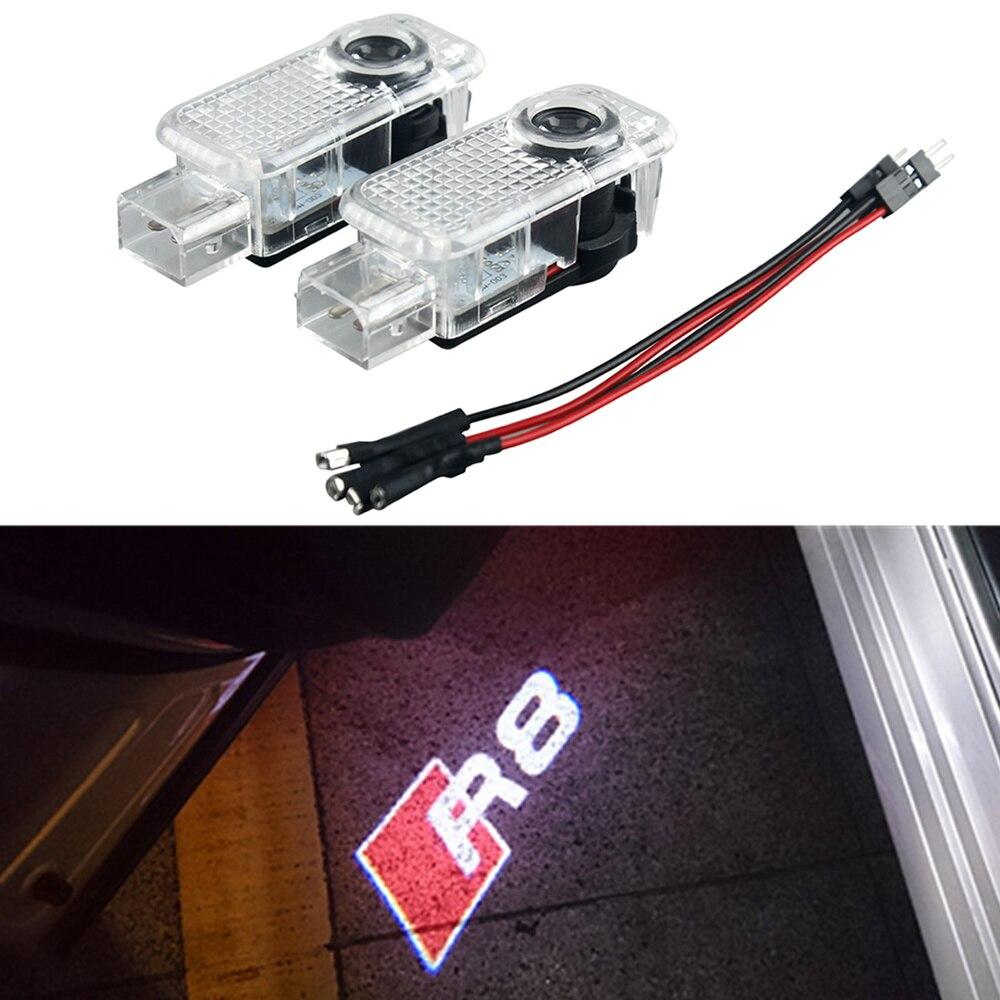Car LED Ghost Shadow Projector Laser Courtesy Personality R8 Logo Light For Audi Sline A8 A7 A5 A6 A4 A3 A1 R8 TT Q7 Q5 Q3
