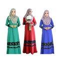 New rendas Muçulmano vestido abaya vestuário islâmico para a Mulher roupas mulheres turcas robe musulmane Muçulmano vestidos de Chiffon vestido longo