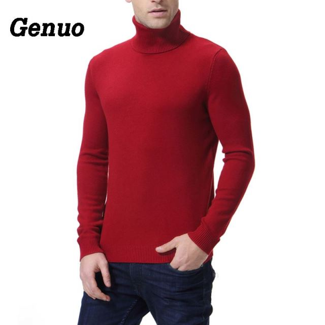 Christmas Sweater Men Clothes 2018 Winter Thick Warm Mens Sweaters Casual Classic Turtleneck Cashmere Pullover Men pull homme
