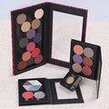 Magnética Paleta de Sombra de ojos, Rosado Del Leopardo, Patrón de Cocodrilo Etiqueta Privada En Blanco Negro, Profesional Naked Maquillaje Stroage