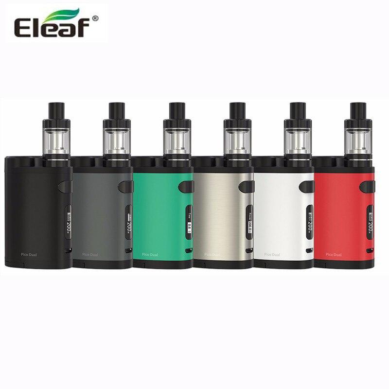 D'origine Eleaf Pico Double avec MELO 3 Mini Kit Pico Double 200 w boîte mod VW/TC Mode Double 18650 Batterie 200 W Mod Électronique Cigarette
