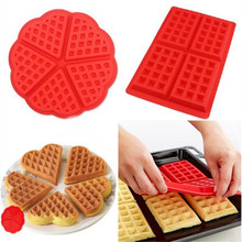Heart Shape Waffle Mold Maker 5-Cavity Silicone Oven Pan Microwave Baking Cookie Cake Muffin Cooking Tools JD721