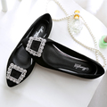 The new fashion women's shoes large-size flat-bottomed shoes women pointed leisure comfortable driving shoes size34 40 41 42 43