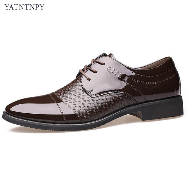 Us 27 99 33 Off Yatntnpy New Arrival Fashion Business Shoes Men Pointed Toe Oxfords Man Office Dress Leather Good Quality Wedding In