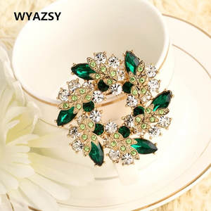 eff33eab9 WYAZSY Crystal Brooches For Women Jewelry Gifts