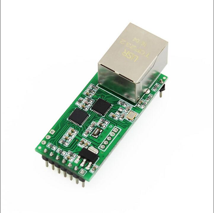 USR-TCP232-T2 Ethernet Network to serial port / RJ45 to TTL server module Support DHCP and DNS