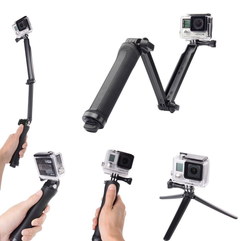 buy gopro monopod accessories 3 way grip. Black Bedroom Furniture Sets. Home Design Ideas
