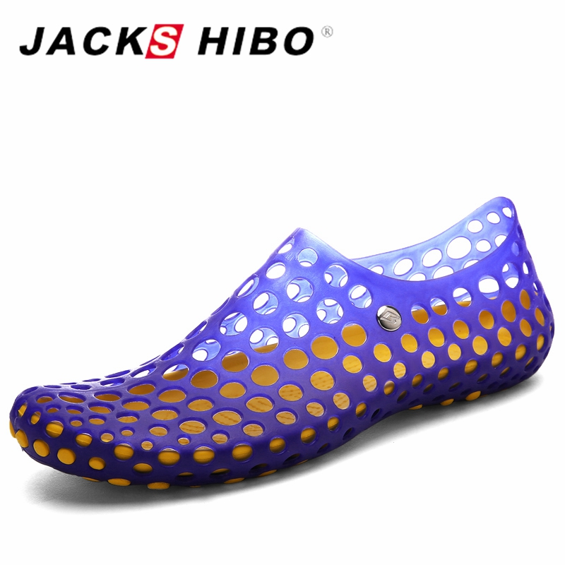 JACKSHIBO Fashion Men Slip on Water Shoes Summer Man Beach Sandals  Comfortable and Quick Drying Zapatos Hombre Black Blue Green 2017 fashion italian luxury dress mens shoes genuine leather black brown design flats for men business ol shoes brand oxford
