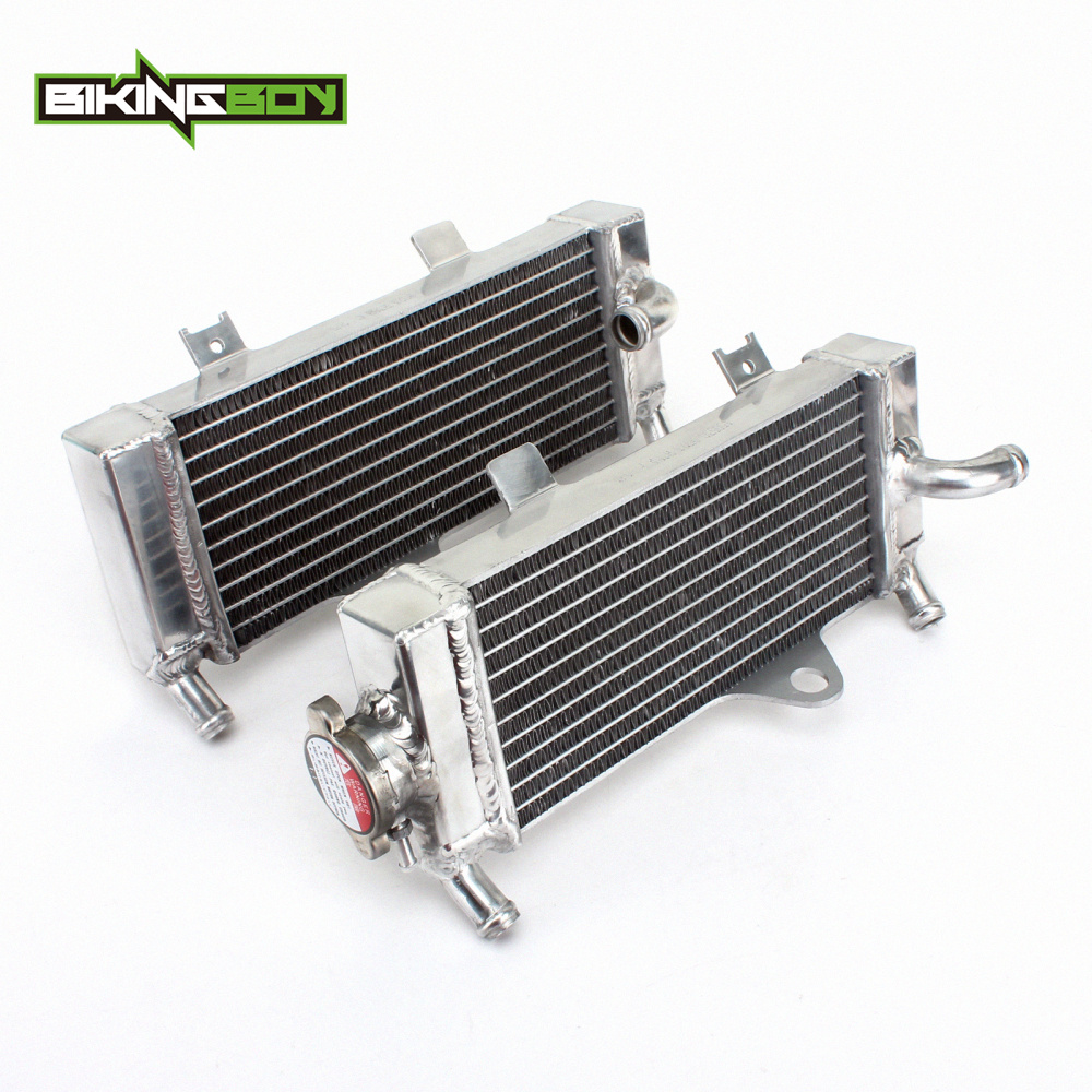 BIKINGBOY MX Motorcycle  Aluminum Cores Water Cooling Radiators For HONDA CRF 250 R 2010 2011 2012 2013 CRF250R 10 13-in Engine Cooling & Accessories from Automobiles & Motorcycles    1