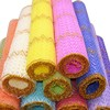 50CMx4YD Glitter Gold Wave Tulle Roll Flower Wrapping Material Spool Fabric Organza DIY Crafts Party Wedding