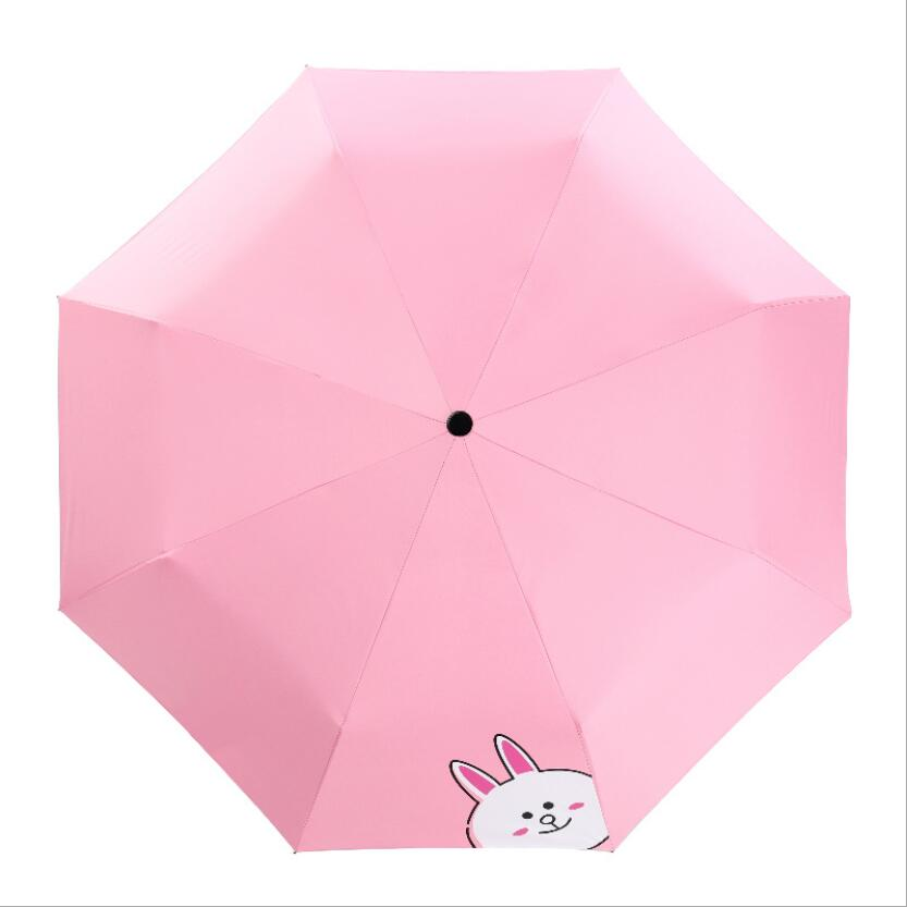 White Gold Marble fashion print cute Windproof automatic tri-fold umbrella sun UV protection Sun umbrella