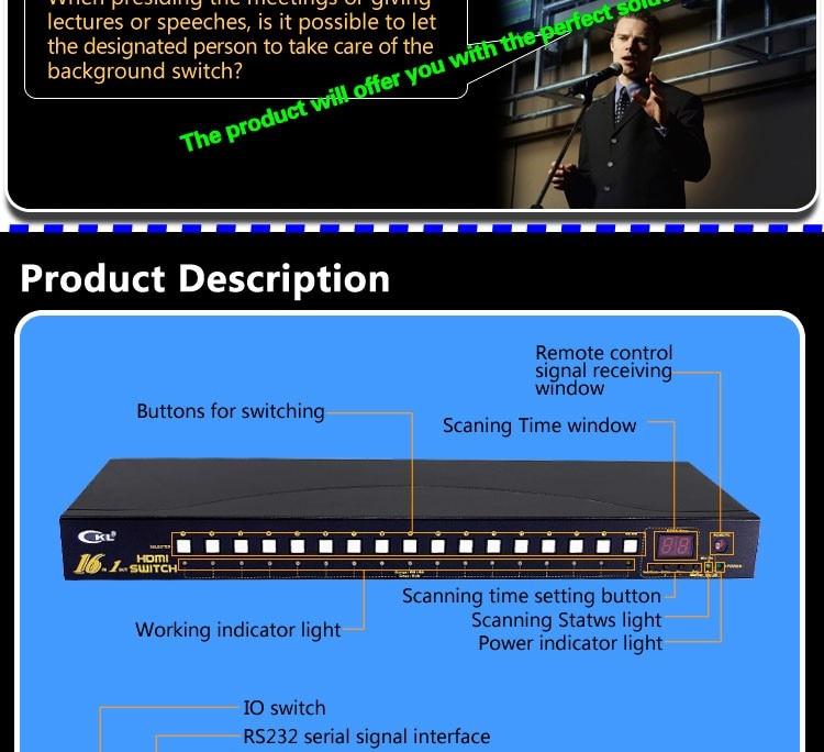 Computer-peripheriegeräte Ckl-21h 2 Port Auto Hdmi Switch 2 In 1 Mit Ir-fernbedienung Rs232-steuerung Automatische Erkennung Edid Unterstützung 3d 1080 P
