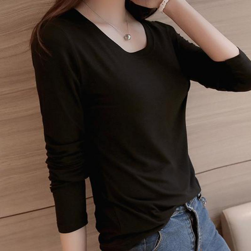 Summer 11 Colors Slim Casual Women T Shirt Autumn Tops Long Sleeve O Neck Bottoming Wear Ropa Clothing Mujer Plus Size S-2xl New