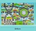 Los niños se arrastran mapa mapa mapa mapa de la ciudad de herramientas de tráfico coche tela no tejida plegable impermeable toys sólo el mapa interactivo