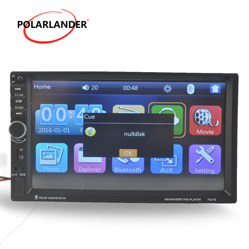 2 DIN 7 inch Car Radio MP5 MP4 video Player Bluetooth touch screen Rear Camera/DVR input Stereo FM USB steering wheel control