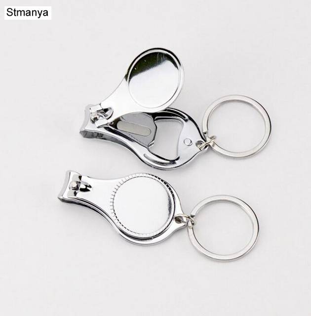 New Design Nail Clipper Metal Keychain Multifunctional Round Drops Nail Scissors  Key Chain KeyRing Best Gift 6dedef5e4d0e