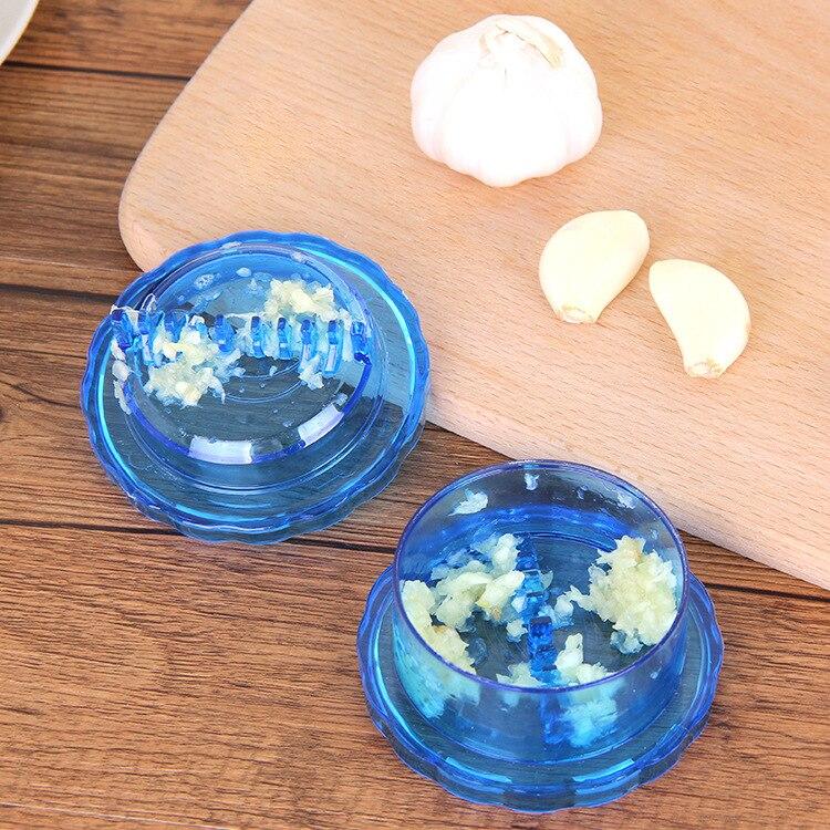 Herramientas de Mano De Plástico de cocina Machacador de Ajo Presser Crusher Sli
