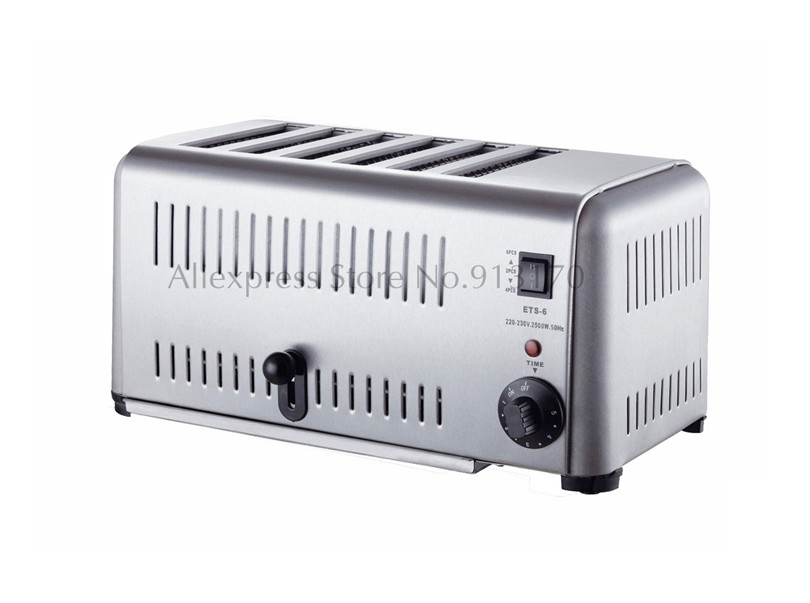 Electric Kitchen Toaster 6 Slice Stainless Steel Commercial Bread OvenElectric Kitchen Toaster 6 Slice Stainless Steel Commercial Bread Oven