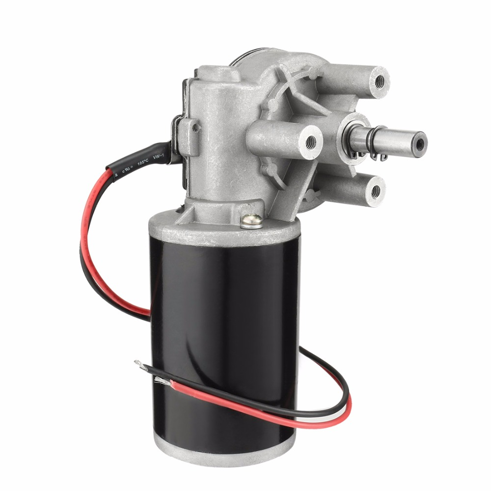 UXCELL JCF63L DC 36V 80W High Torque Reversible Electric Gear Motor 40RPM Silver Tone Black High Quality