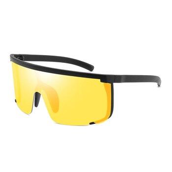 Солнцезащитные очки с сиамскими линзами, большие солнцезащитные очки, солнцезащитные очки для верховой езды, супер крутые уличные солнцеза...