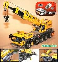 New Technic RC Motor Power Mobile Crane Mk II fit legoings technic truck Crane city 42009 Building Blocks Bricks Gift diy toys