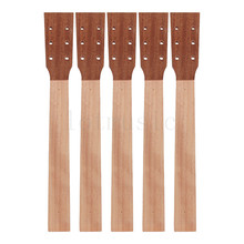 Acoustic Guitar Neck for Guitar Parts Replacement Luthier Repair Diy Unfinished Sapele Head Veneer  Pack of 5