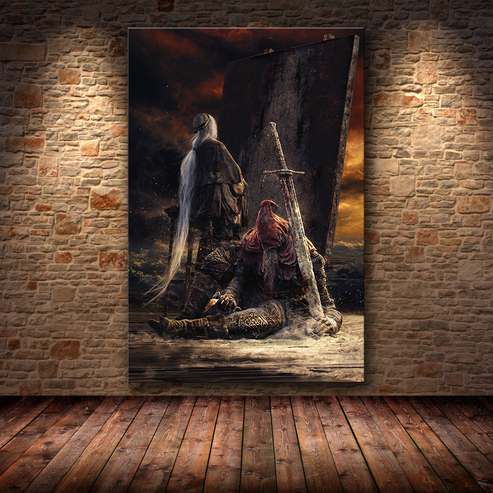 Unframed The Game Poster Decoration Painting Of The Dark Souls 3 On HD Canvas  Canvas Painting Art Posters And Prints