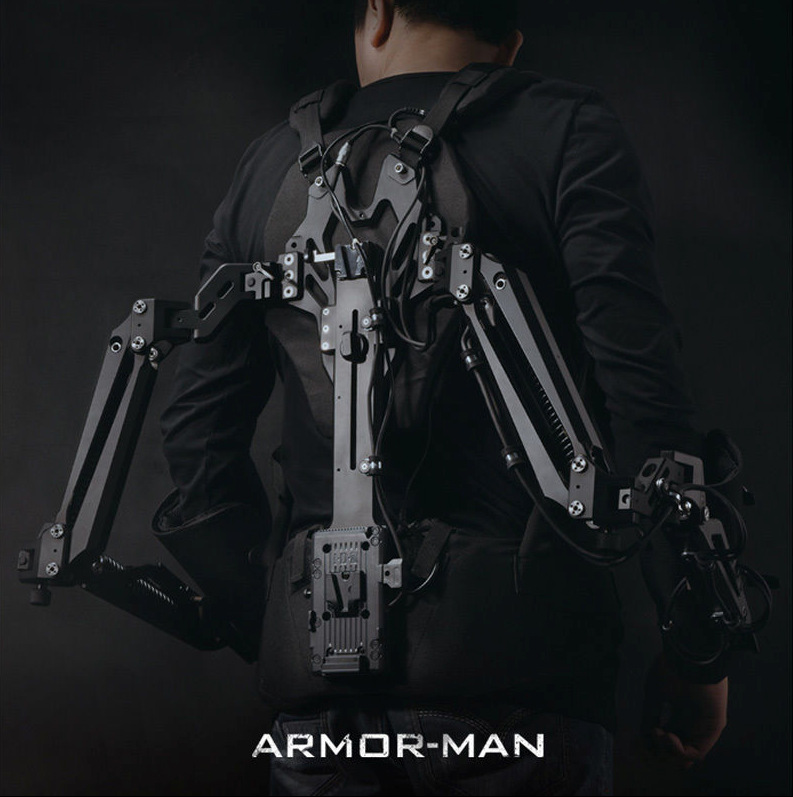 TiLTA MAX ARMOR-MAN ARM-T02 Steadycam Steadicam 3Axis Gimbal Stabilizer Hold Gimbal Support Mount load 11KG Vest + Arm + Case