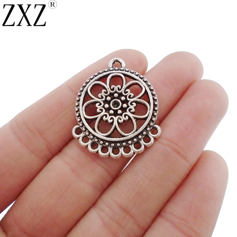 ZXZ 10pcs Chandelier Multi Connector Charms Pendants For Earring Jewelry Making Findings 30x25mm