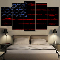 Nieuwkomers Zwarte Vlag Stijl Canvas Poster Woondecoratie Unframed Canvas Schilderijen Voor Woonkamer Slaapkamer Drop verzending