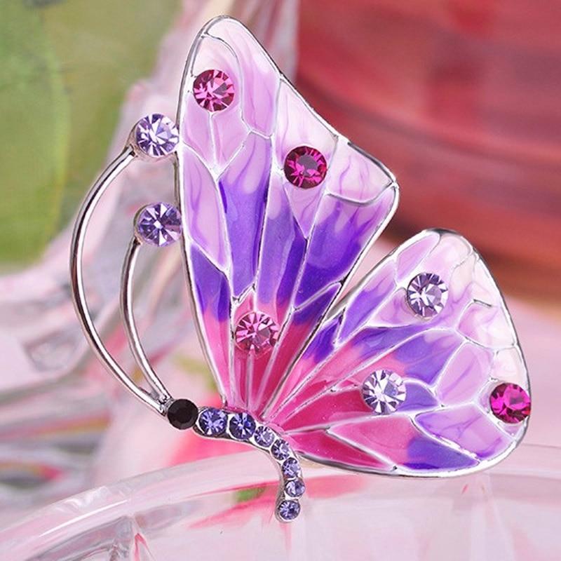 Cadeaux Bijoux Cristal Mariage Femmes Broche épingle strass papillon