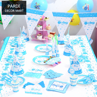 Baby boy birthday party decoration party supplies 1set/lot