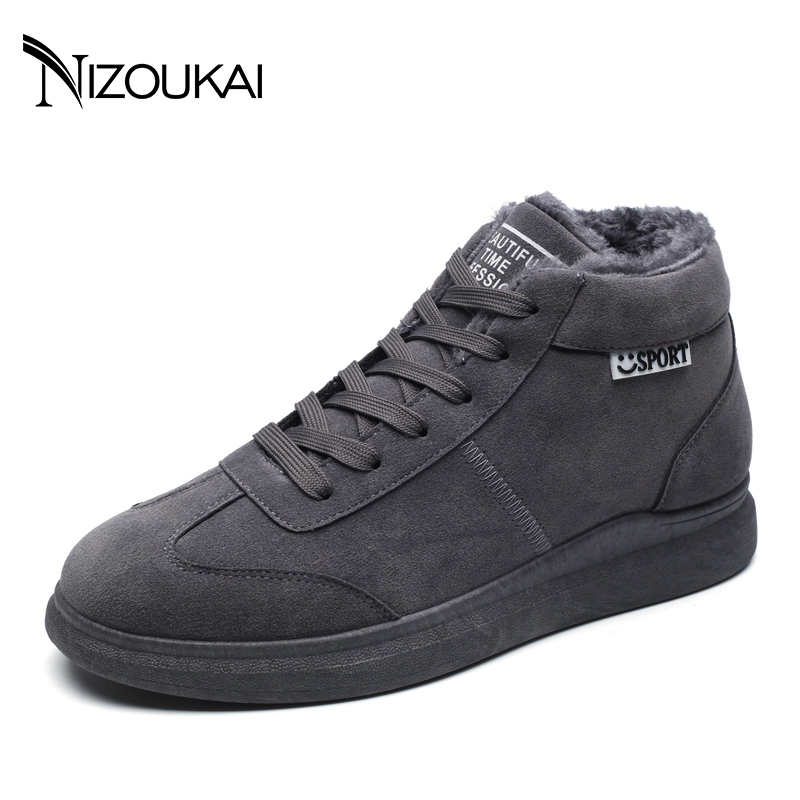 2017 New Men Boots Winter Shoes For Men Warm Snow Boots Men Shoes Footwear Fashion Male Rubber Winter Ankle Boots Black Gray цены онлайн