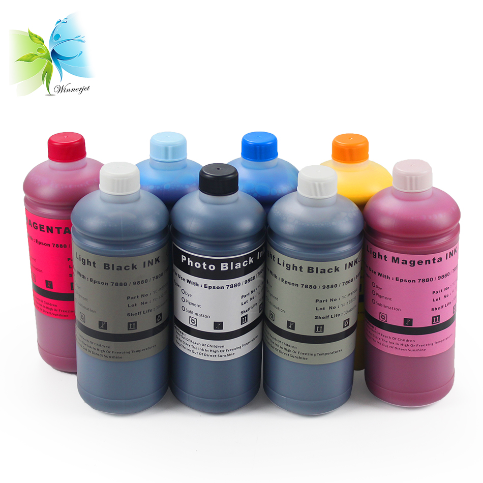 Winnerjet Refill UltraChrome Pigment ink for Epson 7880 9880 7800 9800 printer suitable for photo in Ink Refill Kits from Computer Office