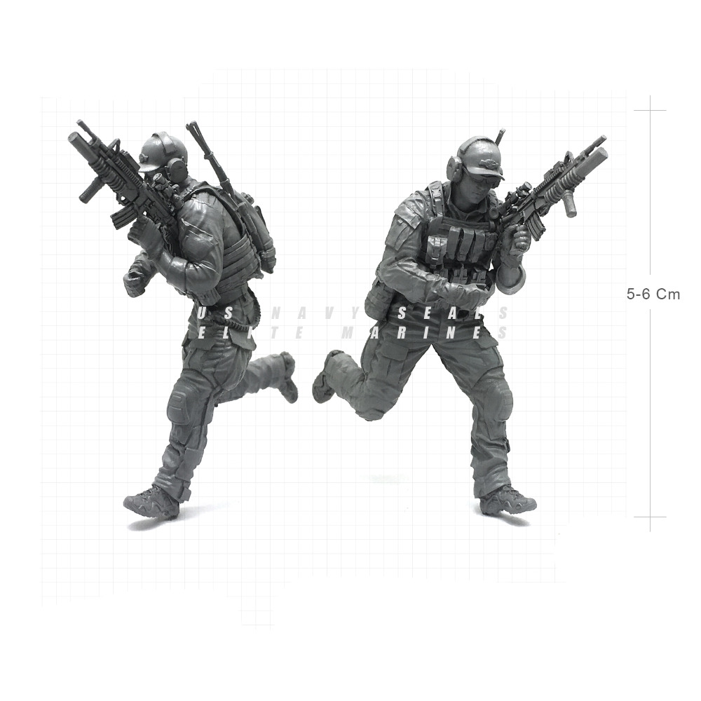 Tobyfancy 1/35 Modern U.S Navy Seals Elite Marines Military Soldier Resin Model Figure NAI-17
