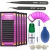 Dollylash Apply Single Eyelashes Extension Sets Lash Glue Tweezer Lash Lint Free Eye Patch Kit Individual