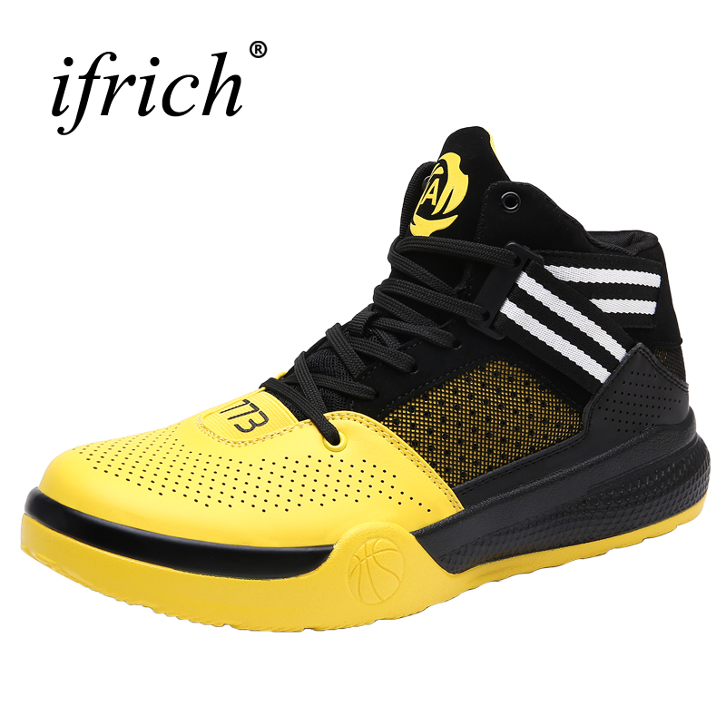 2017 Hot Sale Basketball Shoes for Men Boys High Top Training Boots Lace Up Basket Shoes ...