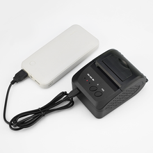 TP5809 58 мм портативный Bluetooth мини термальность чековый принтер 5 в питание запасные аккумуляторы для телефонов зарядки мощность хорошая цена