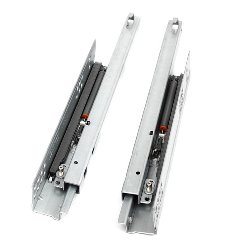1Pair/ Lot Rebound Press To Release Push Open Under Mount Drawer Slide Rail Runner DTC Brand 25KG