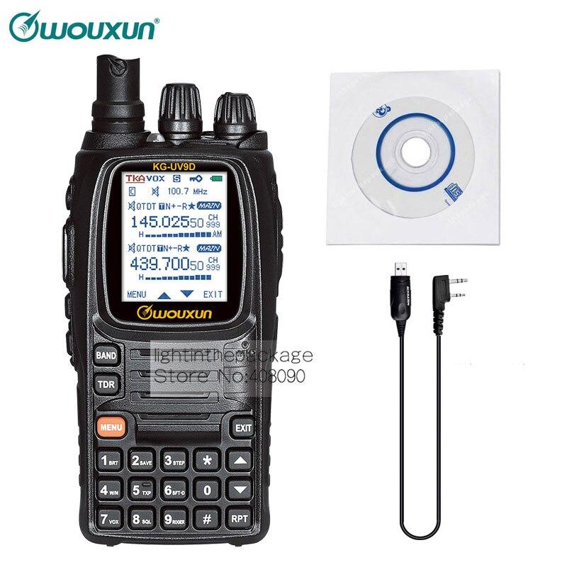 bilder für Wouxun kg-uv9d vhf uhf 2,5 khz 136-174/400-512 mhz air band 7 band kfz-ladegerät zwei weg radio + nktech programmierkabel