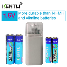 ФОТО  15v 1180mWh 3000mWh AA AAA rechargeable polymer lithium battery  4 slots aa aaa li-ion battery charger with flashlight